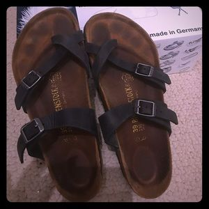 Birkenstock Mayari Black Oiled Leather 39